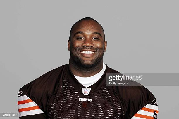 LeCharles Bentley of the Cleveland Browns poses for his 2007 NFL headshot at photo day in Cleveland Ohio