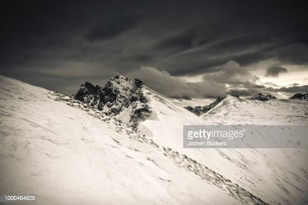 lechtaler winterstorm - winter_storm stock pictures, royalty-free photos & images