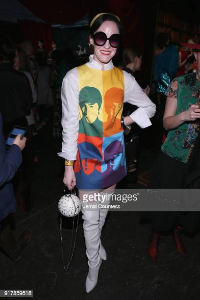 Leckie Roberts attends the Alice Olivia by Stacey Bendet presentation during New York Fashion Week The Shows at Industria Studios on February 13 2018...