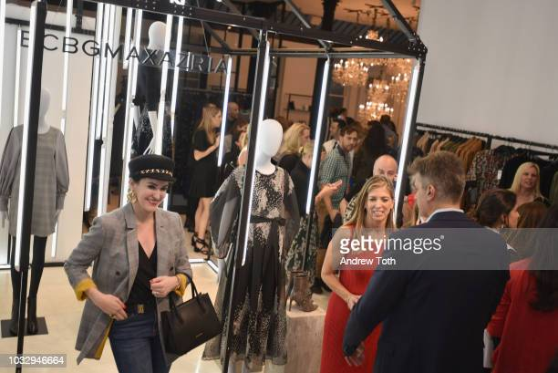 Leckie Roberts attends the celebration of the BCBGMAXAZRIA SoHo store opening with Kate Young Bernd Kroeber and InStyle on September 13 2018 in New...