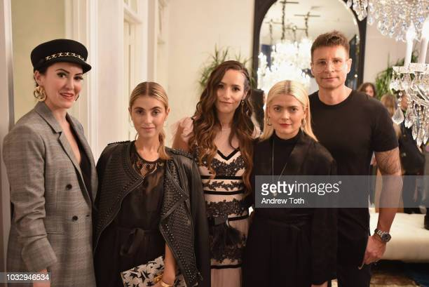 Leckie Roberts Charlotte Bickley Sophie Bickley Kate Young and BCBG Creative Director Bernd Kroeber attend the celebration of the BCBGMAXAZRIA SoHo...