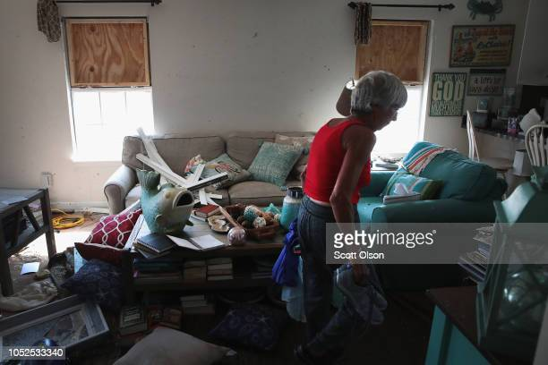 LeClaire Bryan mother of country music artist Luke Bryan recovers items from her home after it was severely damaged by Hurricane Michael on October...