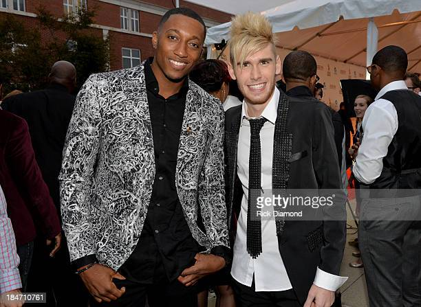 LeCrae and Colton Dixon attend the 44th Annual Dove Awards on October 15 2013 in Nashville Tennessee