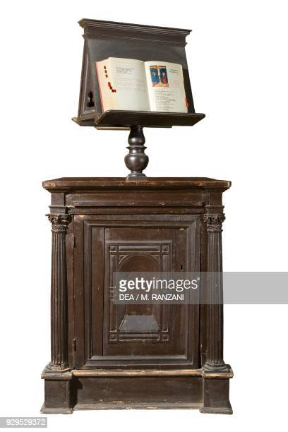 Lectern in the wooden choir by Enrico de Galli presbytery of the Collegiate church of St Stephen Vimercate Lombardy Italy 11th12th century