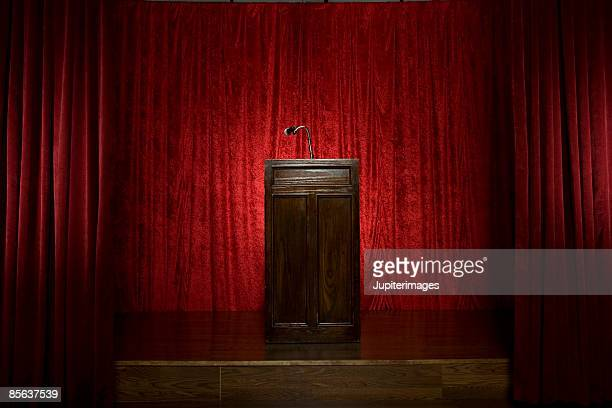 Lectern on stage