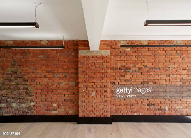 Lector Court London United Kingdom Architect Ben Adams Architects 2014 Exposed brick wall in open plan office