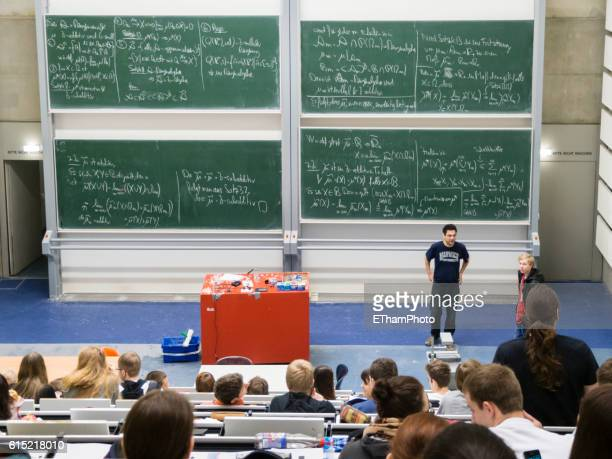 Lecture of mathematics at university auditorium