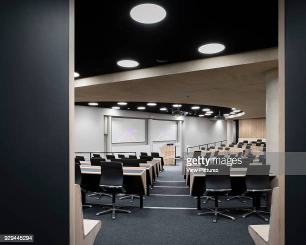 Lecture theatre The Blavatnik School of Government at the University of Oxford Oxford United Kingdom Architect Herzog De Meuron 2016