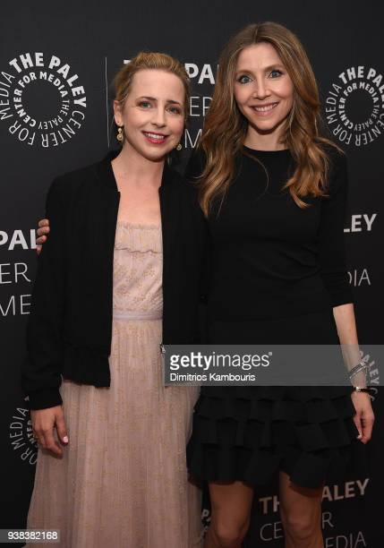 Lecy Goranson and Sarah Chalke attend An Evening With The Cast Of 'Roseanne'at The Paley Center for Media on March 26 2018 in New York City