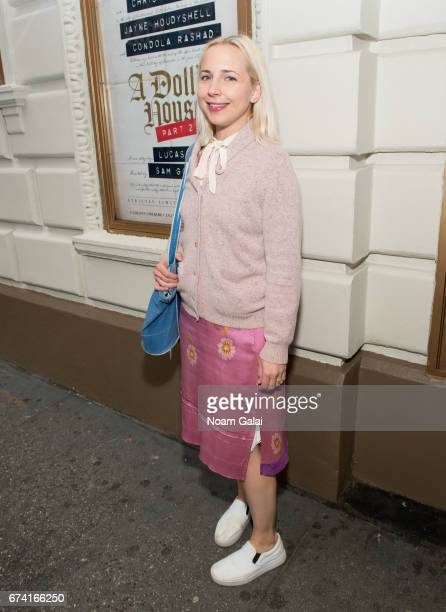 Lecy Goranson attends the opening night on Broadway of Lucas Hnath's A Doll's House Part 2 starring Laurie Metcalf and Chris Cooper at Golden Theatre...