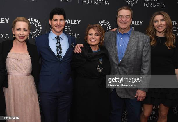 Lecy Goranson Michael Fishman Roseanne Barr John Goodman and Sarah Chalke attensd An Evening With The Cast Of 'Roseanne'at The Paley Center for Media...