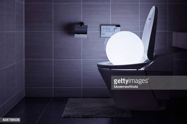 Led ball using toilet