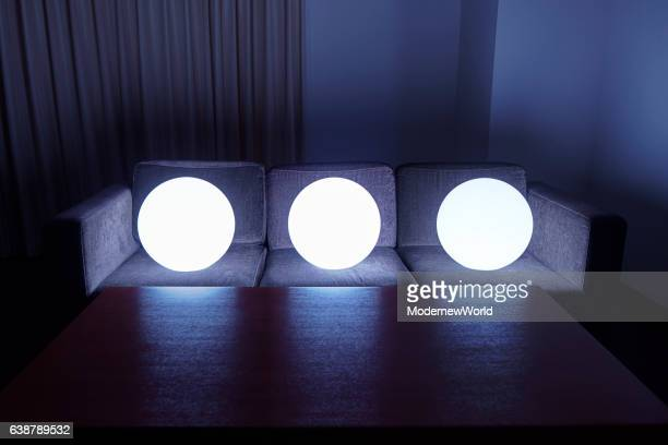 Led balls having seats