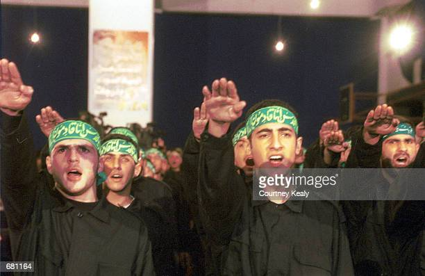 Led by a speech by Hezbollah guerrilla leader Sheik Hassan Nasrallah 284 members of Hezbollah take an oath to continue fighting during Martyrs'' Day...