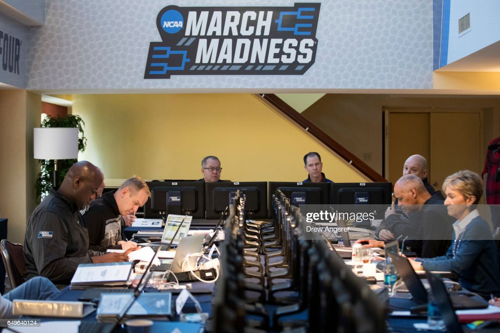 NCAA Basketball Tournament Selection Committee Meets In Manhattan : News Photo