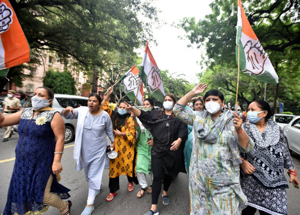 IND: Delhi Congress Protest Outside Residence Of Home Minister Amit Shah Over Pegasus Spyware Row