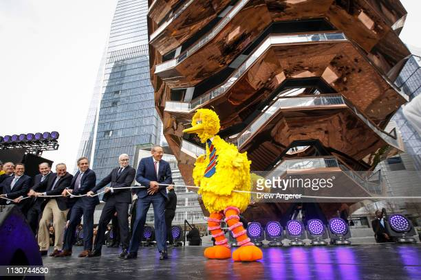 Led by Stephen Ross chairman and majority owner of the Related Companies Sen Chuck Schumer Anderson Cooper and character Big Bird and dignitaries...