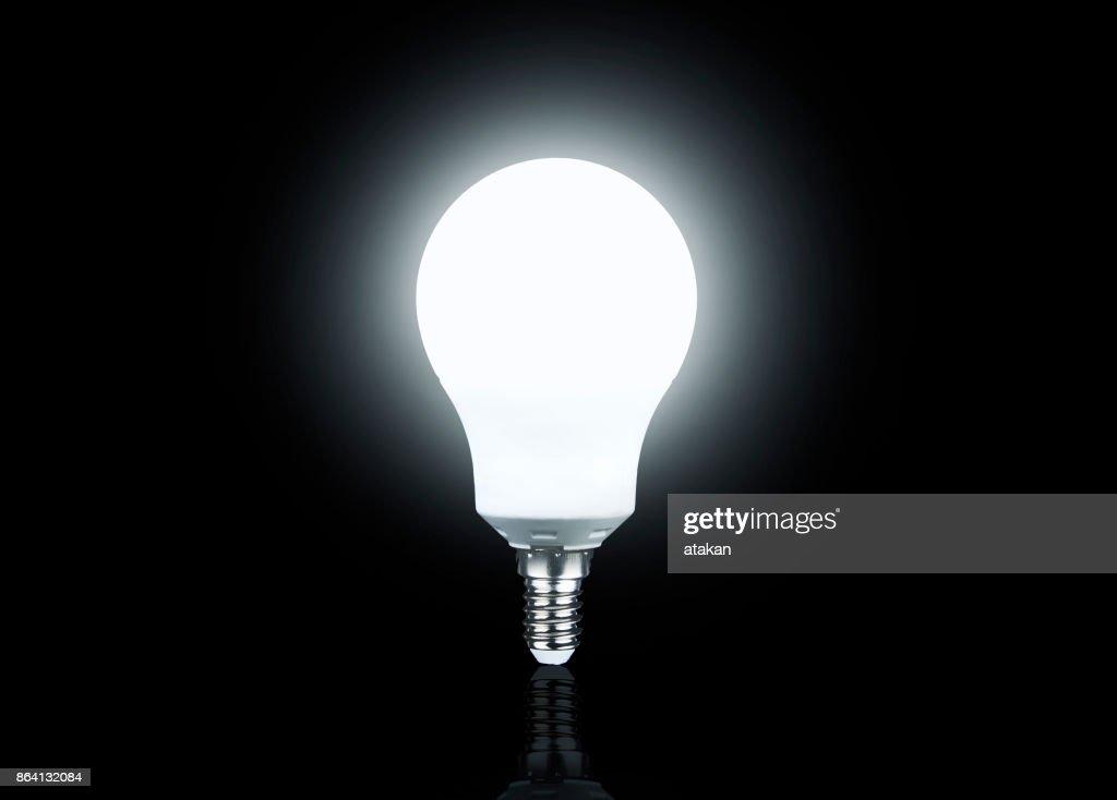 Led light bulb isolated : Stock Photo
