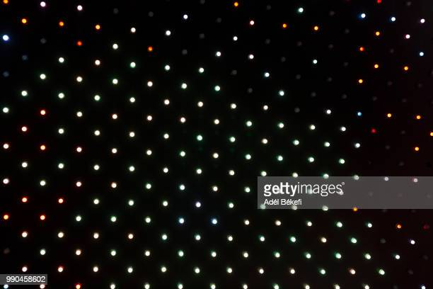 led lights in display - large scale screen stock pictures, royalty-free photos & images