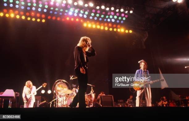 Led Zeppelin at Knebworth, England. This was the last time Led Zeppelin appeared in England. The audience was estimated at 187,000. On August 11,...