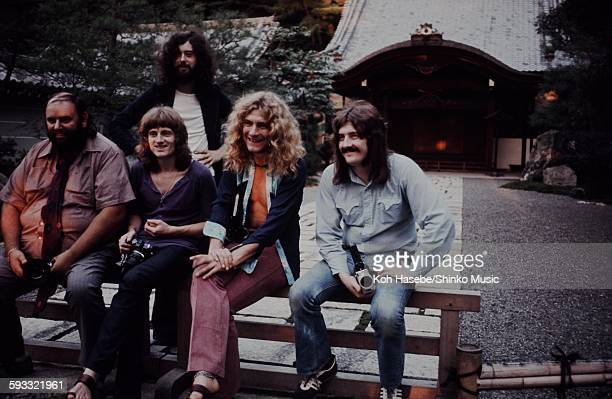 Led Zeppelin at the Hiroshima shrine Hiroshima September 1971