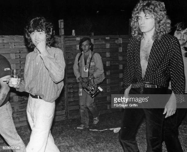 Led Zeppelin backstage at Knebworth England This was the last time Led Zeppelin appeared in England The audience was estimated at 187000 on August 11...