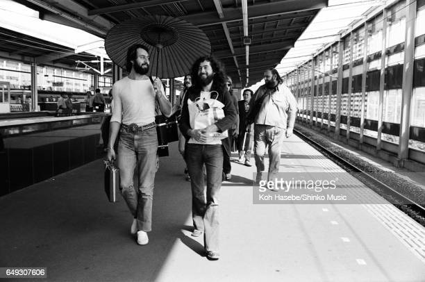 Led Zeppelin on a platform at Kyoto Station September 25th 1971