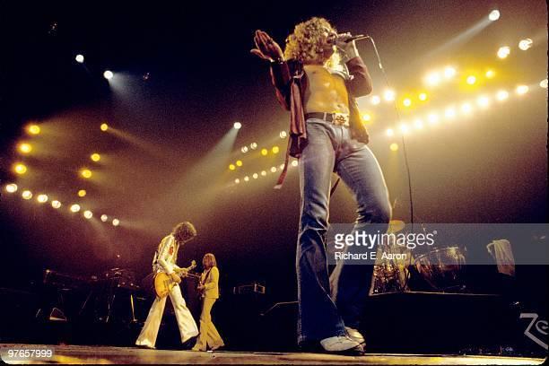 Led Zeppelin perform live on stage at Madison Square Garden New York on June 07 1977 LR Jimmy Page John Paul Jones Robert Plant John Bonham