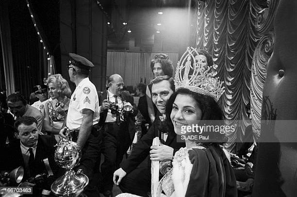 Leda Maria Vargas Brazil Elected Miss Universe 1963 In Miami En juillet 1963 Aux EtatsUnis en Floride à Miami Beach lors du concours de Miss Univers...
