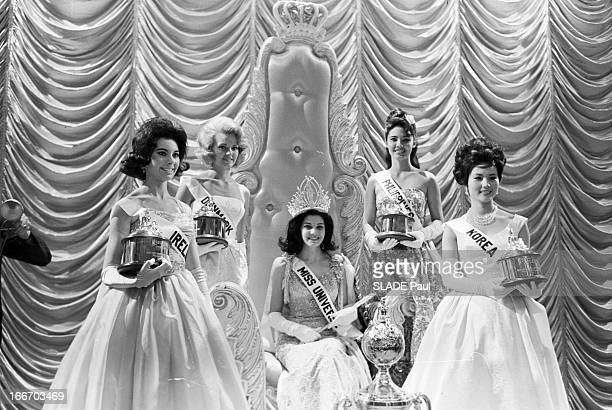 Leda Maria Vargas Brazil Elected Miss Universe 1963 In Miami En juillet 1963 Aux EtatsUnis en Floride à Miami Beach Monique LEMAIRE Miss France...