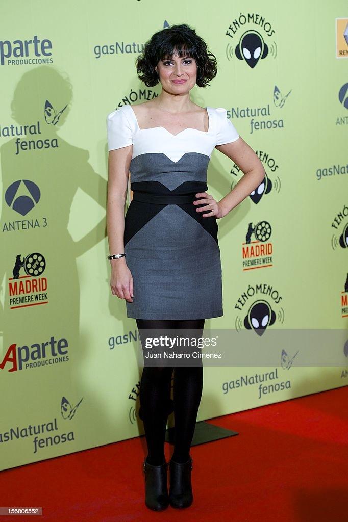 Ledicia Sola attends 'Fenomenos' Premiere at Callao Cinema on November 21, 2012 in Madrid, Spain.
