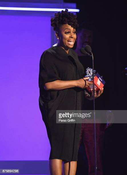 Ledisi accepts the Soul Train Certified Award onstage at the 2017 Soul Train Awards presented by BET at the Orleans Arena on November 5 2017 in Las...