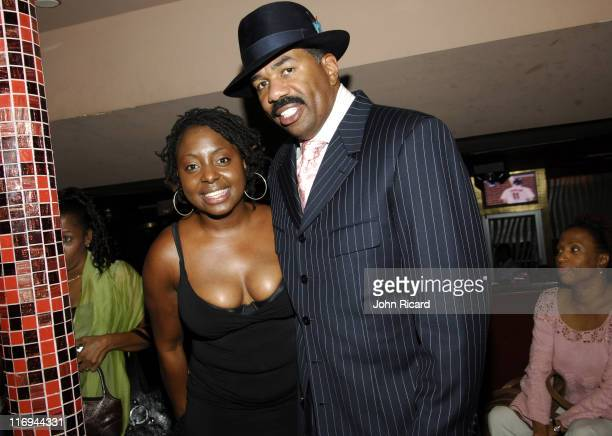 Ledisi and Steve Harvey during WBLS Presents Circle of Sisters End the Violence Gala at Club LQ in New York City New York United States