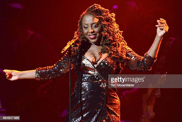Ledisi performs during 'The Intimate Truth Tour' at The Fox Theater on March 1 2015 in Oakland California