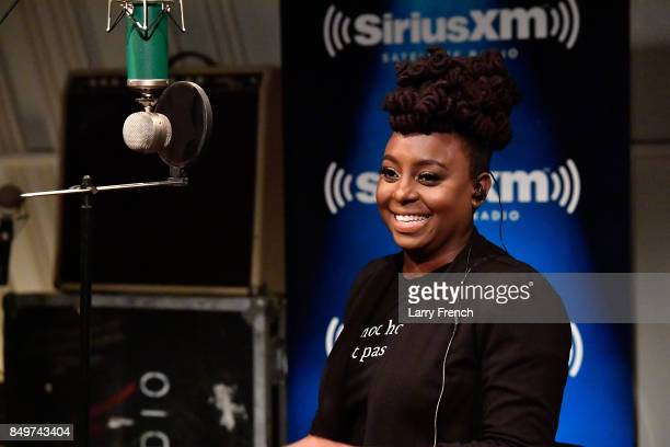 Ledisi performs live on SiriusXM on Up Close and Personal on the Heart Soul Channel hosted by Cayman Kelly at SiriusXM Studio on September 19 2017 in...