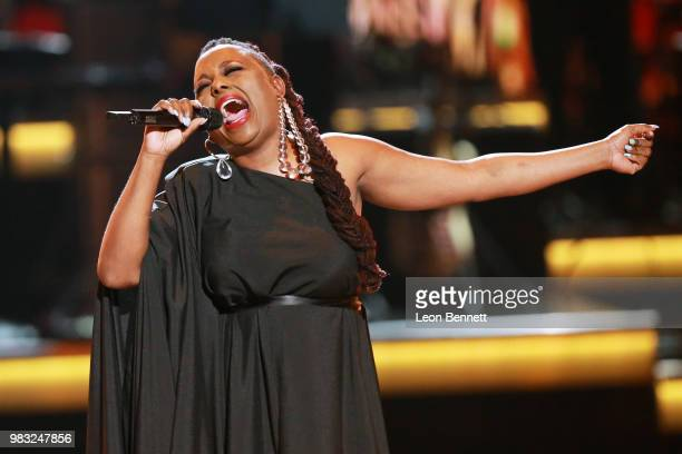 Ledisi performs onstage at the 2018 BET Awards at Microsoft Theater on June 24 2018 in Los Angeles California