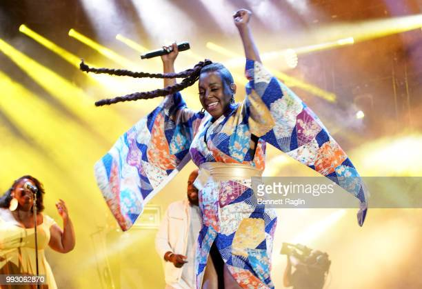 Ledisi performs onstage during the 2018 Essence Festival presented By CocaCola Day 1 at Louisiana Superdome on July 6 2018 in New Orleans Louisiana