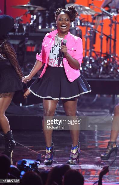 Ledisi performs onstage during the 'BET AWARDS' 14 held at Nokia Theater LA LIVE on June 29 2014 in Los Angeles California