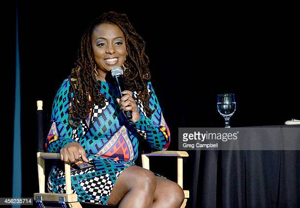 Ledisi speaks on the use of social media and her career at the GRAMMY futureNOW seminar at Stax Music Academy and Museum on September 27 2014 in...