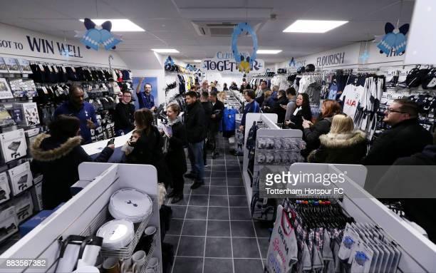 Ledley King opens the new Tottenham Hotspur shop in High Chelmer Shopping Centre on December 1, 2017 in Chelmsford, England.