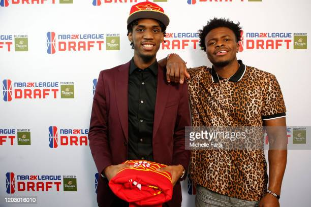 Lee and Neweditionflash poses for a photo during the NBA 2K League Draft on February 22 2020 at Terminal 5 in New York New York NOTE TO USER User...