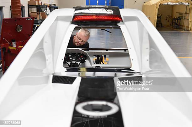 Lee Angles works on a Tanom Invader at Tanom Motors on Monday August 17 2015 in