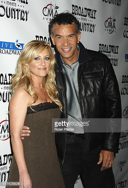 Lee Ann Womack and Brian Stokes Mitchell during Country Takes New York City - Broadway Meets Country - Outside Arrivals at Allen Room, Jazz at...