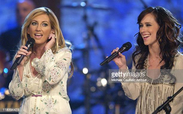 Lee Ann Womack and Jennifer Love Hewitt perform at 'Women Rock Girls and Guitars' airing on the Lifetime Television Network October 25th 2002 at 10 pm