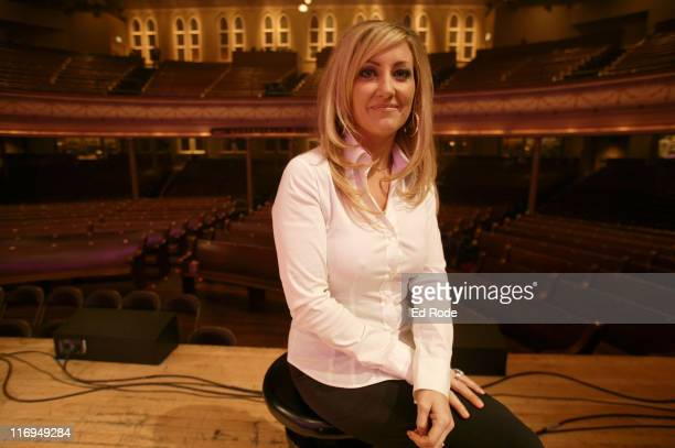 Lee Ann Womack during Lee Ann Womack Private performance at the Ryman Auditorium celebrating the Feb 8 release of her new album THERE'S MORE WHERE...