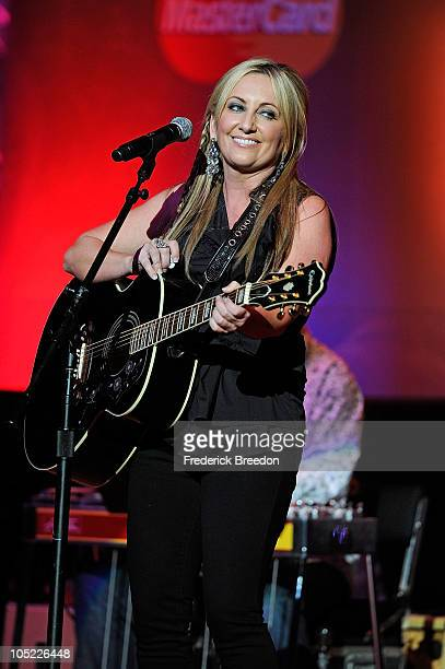 Lee Ann Womack performs at the GRAMMY Salute to Country Music Honoring Loretta Lynn presented by Mastercard and hosted by The Recording Academy at...