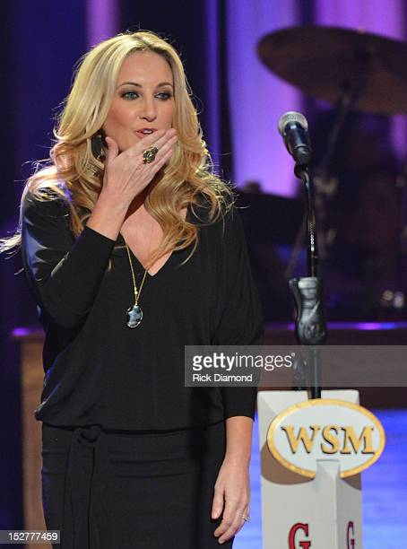 Lee Ann Womack performs during the celebration of Loretta Lynn's 50th Opry Anniversary at The Grand Ole Opry on September 25 2012 in Nashville...