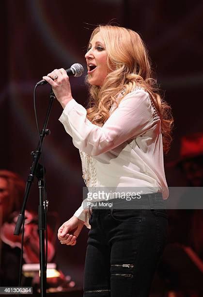 Lee Ann Womack performs on stage during The Life Songs of Emmylou Harris An All Star Concert Celebration at DAR Constitution Hall on January 10 2015...