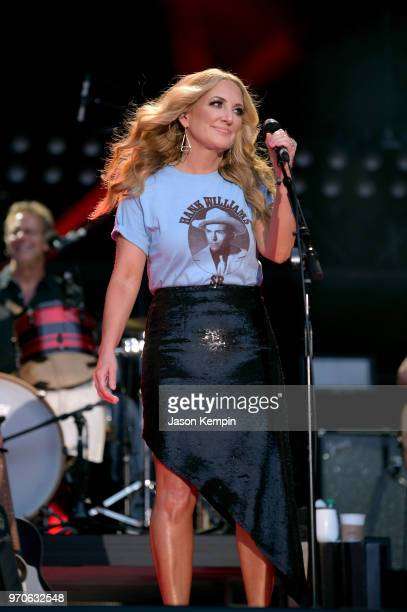 Lee Ann Womack performs onstage during the 2018 CMA Music festival at Nissan Stadium on June 9 2018 in Nashville Tennessee