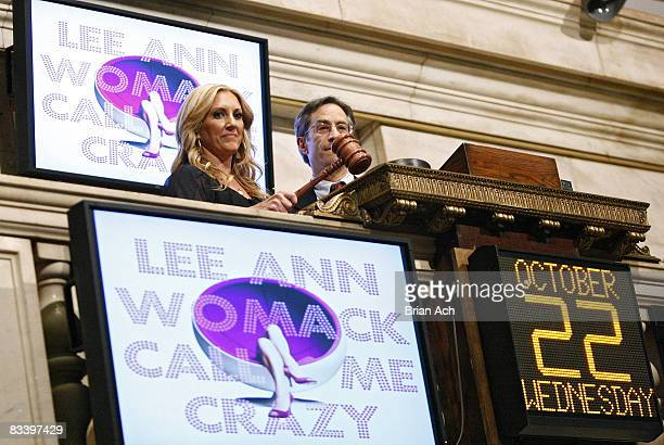 Lee Ann Womack rings the closing bell at the New York Stock Exchange on October 22, 2008 in New York City.